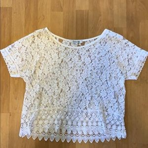 White Lace Floral Top